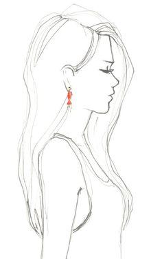 Coral & Diamond Fish Earrings by Bochic for Preorder on Moda Operandi