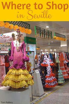 All over the city you will see souvenir stores selling flamenco aprons, cheap spotty flamenco shoes, and general low quality, mass produced items, but there are also some great spots to get authentic products and handicrafts. So where should you to go buy souvenirs in Seville? http://devoursevillefoodtours.com/where-to-buy-souvenirs-in-seville/