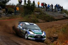 Ford Fiesta WRC in action - great shot!