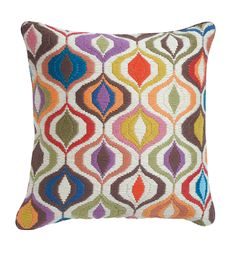 I've never tried needlepoint, but I would love to try making a pillow with a colorful design