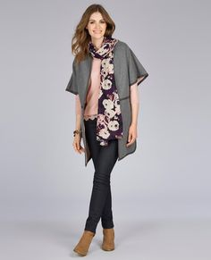 Laura Ashley   Relaxed Short Sleeve Coat   5 Pocket Straight Leg Jeans #lauraashleystyle
