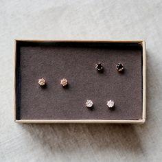 nova earring trio
