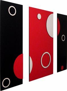 cuadros abstractos minimalistas en 3d trípticos modernos