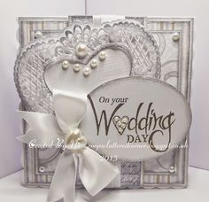 coops cluttered corner: On your Wedding day. Wedding Cards Handmade, Beautiful Handmade Cards, 16th Birthday Card, Birthday Cards, Wedding Crafts, Wedding Ideas, Wedding Couples, Romantic Cards, Handmade Card Making