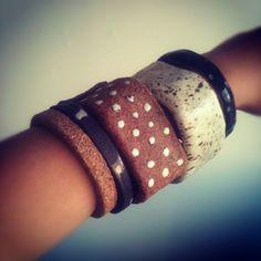 // jujumade ceramic bracelets • Opening, Sat. 10/20: http://www.imrevolting.net/?p=8720