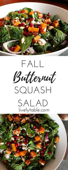A healthy and delicious butternut squash fall salad that's perfect for getting…