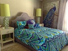 My master bedroom in Palm Springs with Trina Turk Bedding.