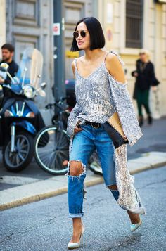 This Unexpected Denim Trend Is Making a Huge Comeback via @WhoWhatWear