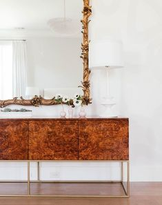 """CEH Label: """"The Ivery"""" Credenza Custom Handcrafted in Burlwood https://www.instagram.com/theceh/"""