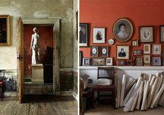 Photo Wall + Orange Paint = Home