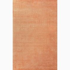 Handmade Solid Pattern Orange Wool/ Art Silk Rug (3'6 x 5'6)