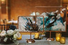 marbled wedding ideas - photo by Karen Kristian Photography http://ruffledblog.com/smoke-and-mirrors-wedding-inspiration