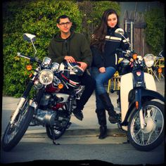 SYM Wolf Classic Cafe Racer Motorcycle and SYM Symba Honda Cub scooter riders in San Francisco | Bay Area | California | #vespa #sfmoto