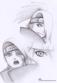 Deidara sketch - pencil by Arya-Aiedail