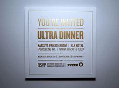 Ultra Miami Invitation by Jamie Stuart, via Behance