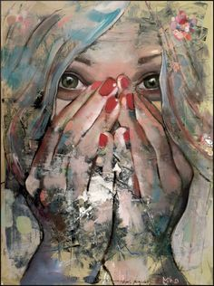 "Saatchi Online Artist: Mihail -Miho- Korubin ; Oil, 2012, Painting ""Bliss"" #art #Figurative #paintings #figures #faces #portraits #hands #korubin #mihail #oil #canvas #fineart"
