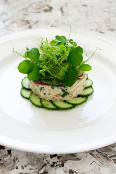 Crab Tian, Cucumber and Wasabi, Avocado Puree - Temptation For Food