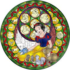 Stained Glass Disney | Snow-White-Stained-Glass-disney-princess-31394718-894-894.png