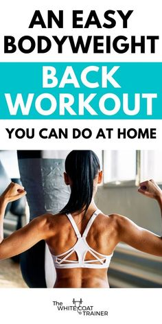 Here is a simple bodyweight back workout you can do from the comfort of your own home. Choose from 21 different back exercises with little to no equipment. Bodyweight Back Workout, Fit Board Workouts, Gym Workouts, At Home Workouts, Training Workouts, Workout Tips, Workout Plans, Workout Programs