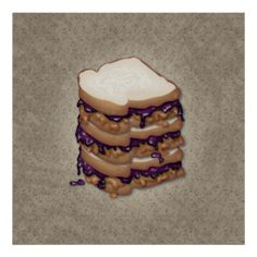 Pbj Canvas Print featuring the digital art Peanut Butter And Jelly Sandwich by Ym Chin Sandwich Drawing, Canvas Art, Canvas Prints, Art Prints, J Tattoo, Future Tattoos, Art Pages, Custom Posters, Fine Art America