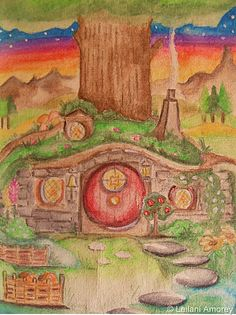 """Home Sweet Home"" by Leilani Amorey  hobbit hole ;)"