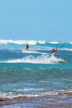 Kite surf, blue, waves, sport, beach, water Encuentro, Cabarete DR