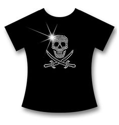 SEXY + INDIVIDUELLES STRASS PIRAT / SKULL V-AUSSCHNITT LADIES PREMIUM T-SHIRT!