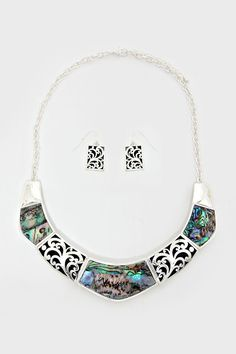 Dianna Necklace in Abalone Shell on Emma Stine Limited