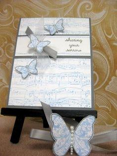 Sympathy Card using sheet music