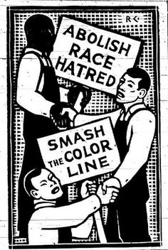 1930's- American Poster abolishing racial discrimination