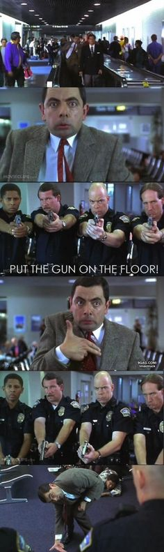 This is my favorite part of the movie! Mr. Bean has taught us all valuable life lessons..