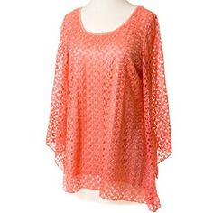 Coral Crochet Tunic http://shop.crackerbarrel.com/Coral-Crochet-Tunic/dp/B00VI6HU1M