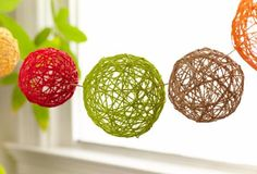 DIY Home Decor Projects for Summer - DIY Yarn Balls - Creative Summery Ideas for Table, Kitchen, Wall Art and Indoor Decor for Summer