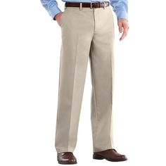 Big & Tall Croft & Barrow® Easy-Care Classic-Fit Stretch Flat-Front Pants, Men's, Size: 38X36,