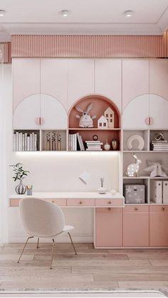 Study Room Design, Girls Room Design, Kids Bedroom Designs, Room Design Bedroom, Room Interior Design, Home Room Design, Dressing Room Decor, Dressing Room Design, Modern Kids Bedroom