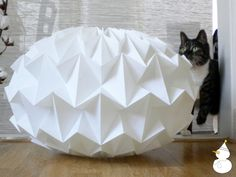 Signature white paper origami lampshade size XL by nellianna