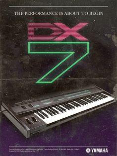 YAMAHA DX7 POSTER by VHS Glitch, via Behance