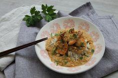 Recette de crevettes au curry lait de coco