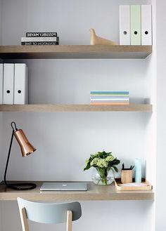 Stunning Home Interior Design Minimalis - Page 55 of 57 Work Office Design, Rustic Home Offices, Home Office Organization, Organization Ideas, Design Your Home, Minimalist Decor, Modern Minimalist, My New Room, Home Decor Styles