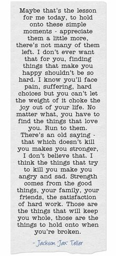 Sons of Anarchy Quote from Jax Teller