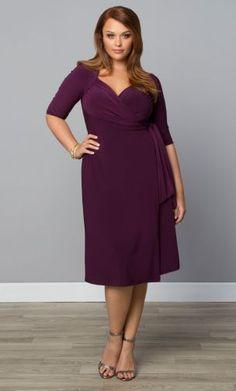 98$ Sweetheart Knit Wrap Dress