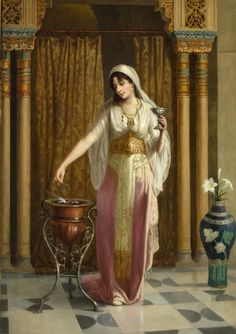 vincent stiepevich a russian artist living in new york, realism, oriental and harem themes Gypsy Girls, Harem Girl, Arabian Art, Academic Art, Turkish Art, Classic Paintings, Historical Art, Classical Art, Arabian Nights