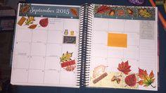 My September monthly layout in my Erin Condren horizontal 2015-2015 planner. Autumn my favorite season..
