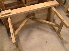 Folding Bench Leg Idea That Is Also Really Stable.