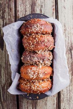 Caramel nut crunch doughnuts