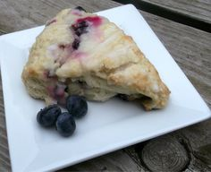 Buttermilk-Blueberry Scones with Lemon Glaze