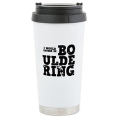 'Bouldering' Stainless Steel Travel Mug