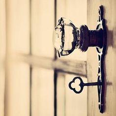 Glass Door Knobs...love 'em!