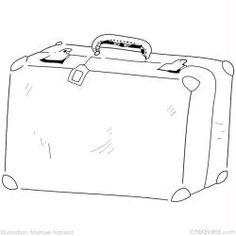 Coloriage valise pour les vacances d'été