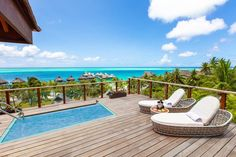 Take a dip into the private infinity pool in your Horizon villa, located on the hillside overlooking the lagoon. Luxury Hotels, Hotels And Resorts, Fine Hotels, Car Rental, Bora Bora, Hotel Offers, Sun Lounger, Dip, Infinity